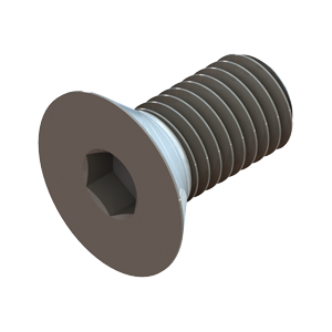 H-FCS-00100 Flat Head Socket Cap Screw 1in - Hevi-Haul Machinery Skate Hardware
