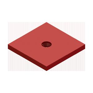 H-00MSP Medium Swivel Plate - Hevi-Haul Machinery Skate Hardware