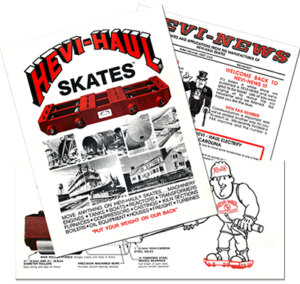 Hevi-Haul History - Old Materials for Hevi-Haul Skates/Dollies