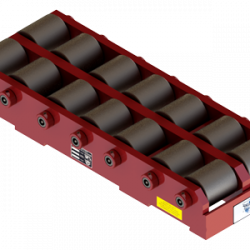 100 ton capacity rigid machinery skate steel roller dolly tdm 200 b