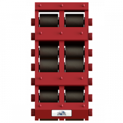 100 ton capacity rigid machinery skate steel roller dolly tdm 200 d