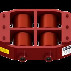 20 ton capacity rigid machinery skate polyurethane roller dolly um hd 75 p c