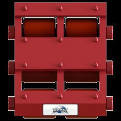 30 ton capacity rigid machinery skate polyurethane roller dolly st 1060 p d
