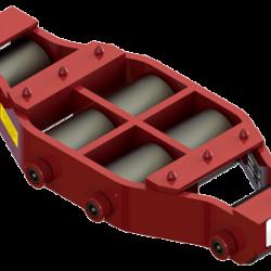 37.5 ton capacity rigid machinery skate steel roller dolly um hd 75 a