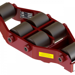 37.5 ton capacity rigid machinery skate steel roller dolly um hd 75 b