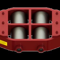 37.5 ton capacity rigid machinery skate steel roller dolly um hd 75 c