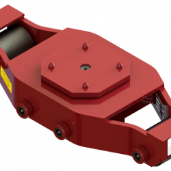 37.5 ton capacity swivel machinery skate steel roller dolly ums hd 75 a