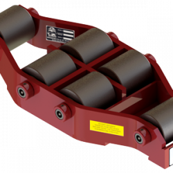 37.5 ton capacity swivel machinery skate steel roller dolly ums hd 75 b