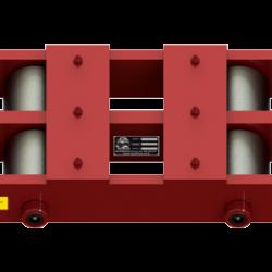 50 ton capacity rigid machinery skate steel roller dolly bb 100 c